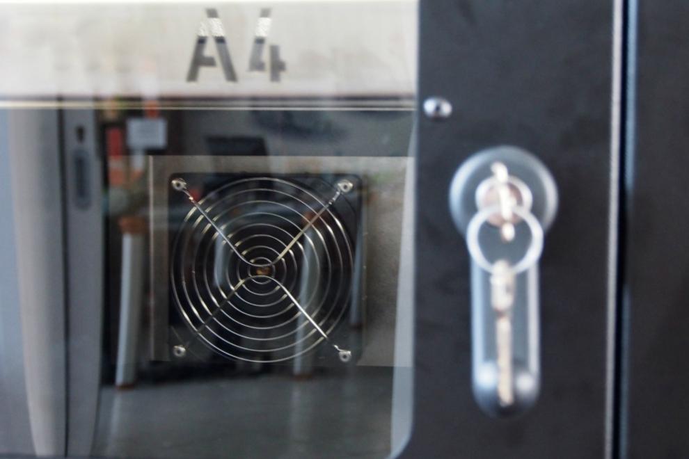 Stampante 3D professionale formato A4 - Ventola